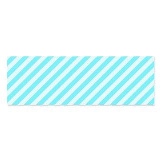[STR-AQ-1] Aqua and white candy cane striped Business Card