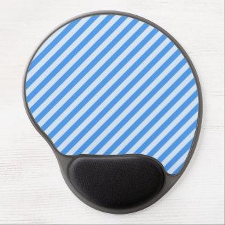 [STR-BLU-01] Blue candy cane striped Gel Mouse Pad