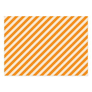 [STR-OR-1] Orange and white candy cane striped Business Cards