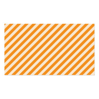 [STR-OR-1] Orange and white candy cane striped Business Card Templates