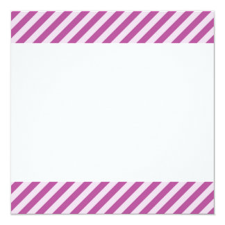 [STR-PU-1] Purple and white candy cane striped 13 Cm X 13 Cm Square Invitation Card