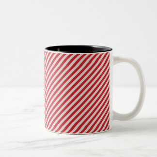 [STR-RD-1] Red and white candy cane striped Mug