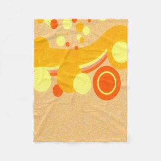 stract Art Brown Background Yellow And Orange Fleece Blanket