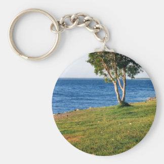Stradbroke Island Basic Round Button Key Ring