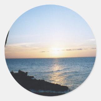 Stradbroke Island Round Sticker
