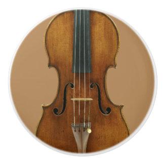 Stradivari Violin Detail Ceramic Knob