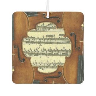 Stradivari Violins Bach Partita Music Manuscript Car Air Freshener
