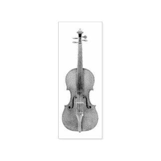 Stradivarius Violin Etched Look Reproduction Rubber Stamp