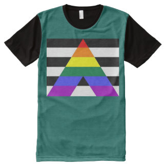 Straight Ally All-Over Print T-Shirt