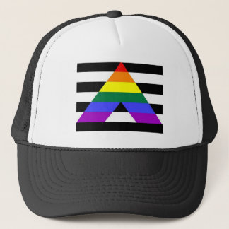 Straight Ally Flag LGBT Supporter Trucker Hat
