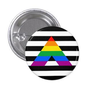 Straight Ally Pride 3 Cm Round Badge