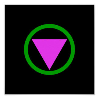 Straight ally symbol poster