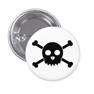 Straight Black Deth's Head Button