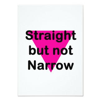 straight but not narrow 13 cm x 18 cm invitation card