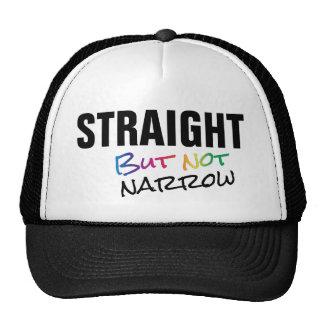 Straight But Not Narrow Rainbow LGBT Ally Cap