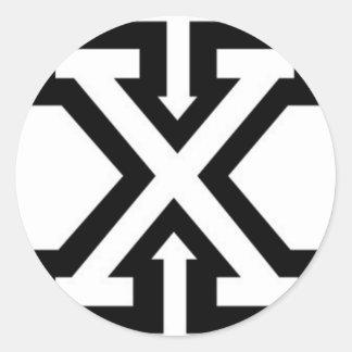 straight-edge-xxx-wp classic round sticker