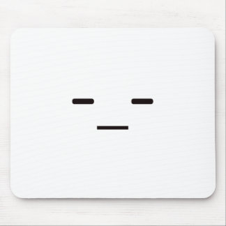 Straight Face Black Blue Red Mouse Pad
