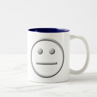 Straight Faced Two-Tone Coffee Mug
