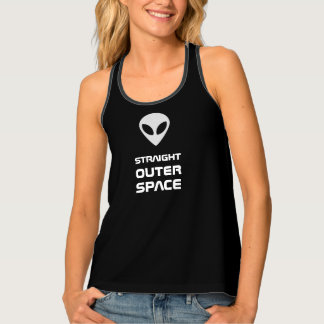 Straight outer space alien agenda singlet