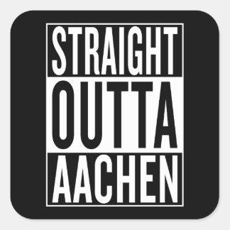straight outta Aachen Square Sticker