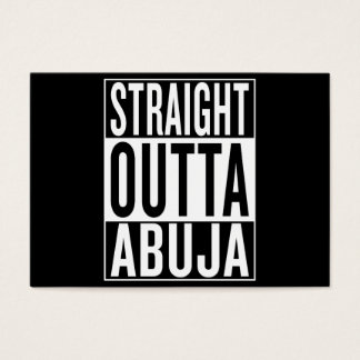 straight outta Abuja Business Card