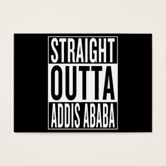 straight outta Addis Ababa Business Card