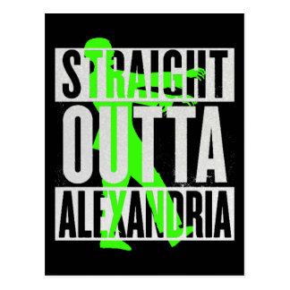 Straight Outta Alexandria Zombie Funny Postcard