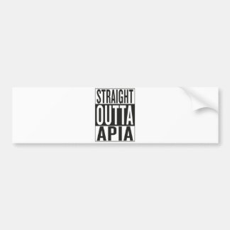 straight outta Apia Bumper Sticker
