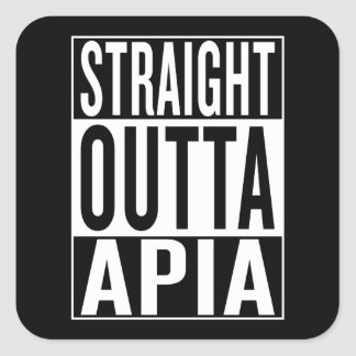 straight outta Apia Square Sticker