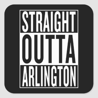 straight outta Arlington Square Sticker