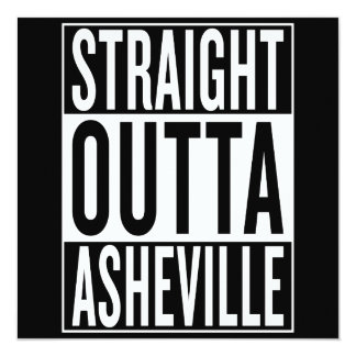 straight outta Asheville Card