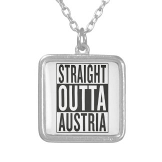 straight outta Austria Silver Plated Necklace