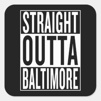 straight outta Baltimore Square Sticker