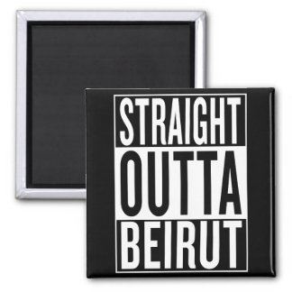 straight outta Beirut Magnet