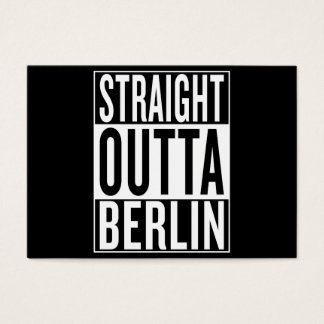 straight outta Berlin Business Card