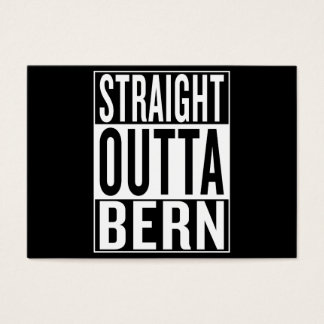 straight outta Bern Business Card