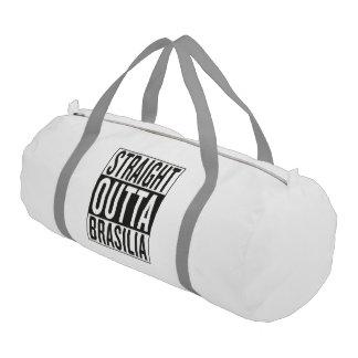 straight outta Brasilia Gym Duffel Bag