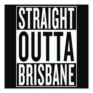 straight outta Brisbane Card