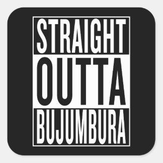 straight outta Bujumbura Square Sticker