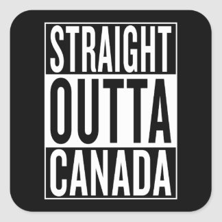 straight outta Canada Square Sticker