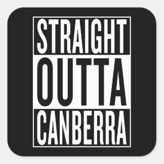straight outta Canberra Square Sticker
