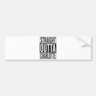 straight outta Charlotte Bumper Sticker