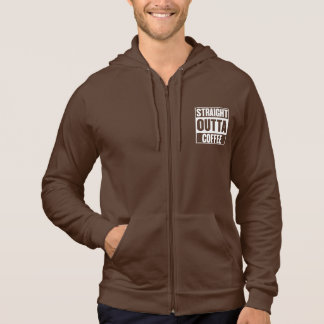 STRAIGHT OUTTA COFFEE MENS ZIPPED HOODIE