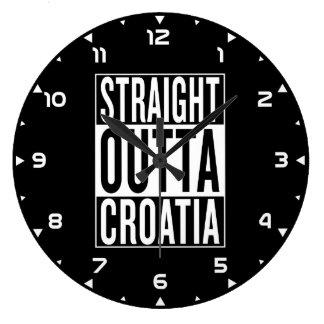 straight outta Croatia Large Clock