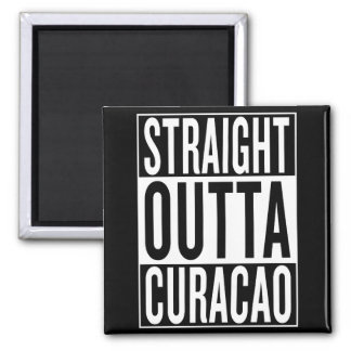 straight outta Curacao Magnet