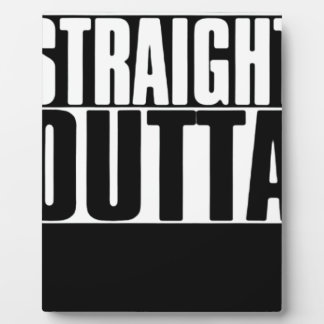 STRAIGHT OUTTA CUSTOM YOUR TEXT HERE TEE DISPLAY PLAQUES