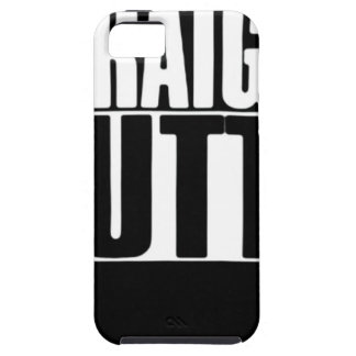 STRAIGHT OUTTA CUSTOM YOUR TEXT HERE TEE iPhone 5 CASES