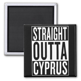 straight outta Cyprus Square Magnet