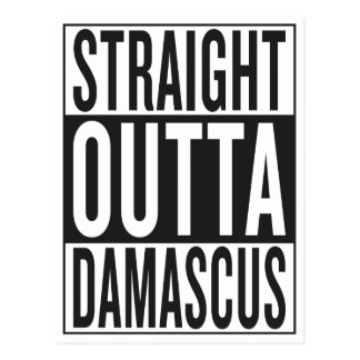 straight outta Damascus Postcard