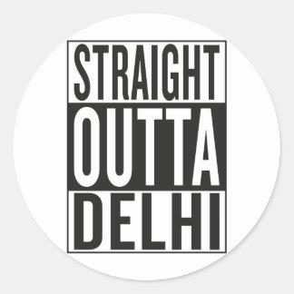straight outta Delhi Classic Round Sticker